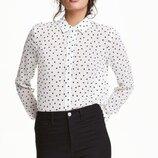 Мила блуза сорочка в сердечка Denim Co розмір S-M.