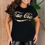 Женская футболка батал ткань вискоза с принтом арт.67967 скл.1