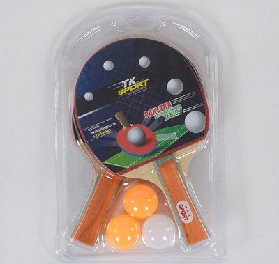 Продано: Набор ракеток для пинг-понга С 34427 настольный теннис 2 ракетки, 3 мяча