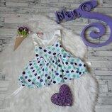 Платье Orkstra baby на девочку белое в горох
