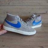 Кроссовки кеды Найк Nike blazer 36 р 23 см замш хай-топы