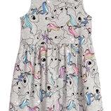 Платье единороги h&m