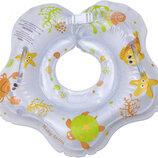 Круг надувной белый для купания младенца. Baby Team 7450