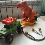 Набор машина и динозавр интерактивный matchbox