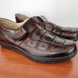 Сандалии босоножки мужские бордовые прошитые - босоніжки сандалі чоловічі бордові