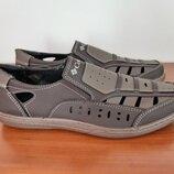 Сандалии босоножки мужские коричневые прошитые - босоніжки сандалі чоловічі коричневі
