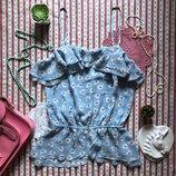Легкая романтичная майка блуза с птичками Next