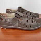 Туфли мужские летние коричневые прошитые - туфлі чоловічі літні коричневі прошиті