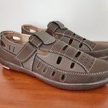 Босоножки сандалии мужские коричневые прошитые - босоніжки сандалі чоловічі коричневі