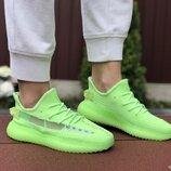 Adidas x Yeezy Boost кроссовки женские демисезонные салатовые 9426