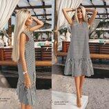 Платье на лето в Черно- Белую полоску