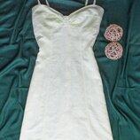 Платье на бретелях из плотного льна H&M