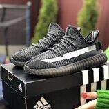 Кроссовки женские Adidas x Yeezy Boost, черный с серым