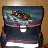 Портфель, ранец, рюкзак Herlitz каркасний Loop Super Racer с машинами