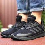 Кроссовки мужские Adidas, черные 9409