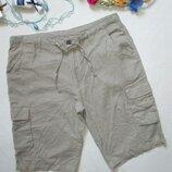 Суперовые летние натуральные шорты чинос с карманами цвет хаки лён с хлопком Livergy.