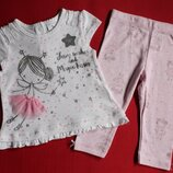 Комплект футболка и лосины F&F для девочки 3-6 мес