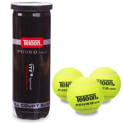 Мяч для большого тенниса Teloon Pound WZT828 3 мяча в вакуумной упаковке