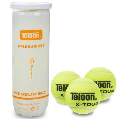 Мяч для большого тенниса Teloon X-Tour T878P3 3 мяча в вакуумной упаковке