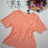 Красивая персиковая футболка в нежный цветочный принт Next.