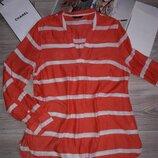 Легкая удлиненная рубашка туника р 16 вискоза сток