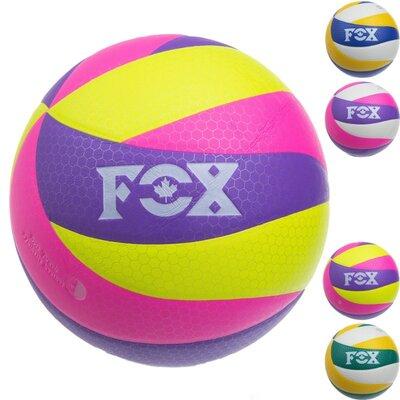 Мяч волейбольный Fox V800 размер 5, клееный 4 цвета