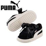 Детские кожаные замшевые кроссовки сникерсы Puma Suede Heart Jewel 4US 19EU 12 см