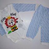 Боди и штаны, 3-6-9-12 месяцев, 62-68-74-80 см, Турция, костюм для мальчика.