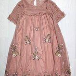Платье с вышивкой некст 8-9