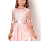 Нарядное платье для девочки Тм Mevis 2988 размеры 98- 116