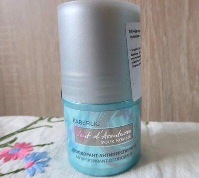 Шариковый дезодорант-антиперспирант для мужчин Vent d´Adventures Faberlic