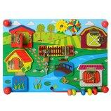Деревянная игрушка Бизиборд MD 2054-1 Ферма