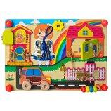 Деревянная игрушка Бизиборд MD 2054-2 Город 2054-1