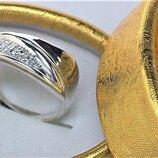 Кольцо перстень серебро 925 проба 7,35 грамма 19,5 размер