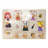 Деревянная игрушка Рамка-Вкладыш MD 2384-01 Девочка