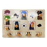 Деревянная игрушка Рамка-Вкладыш MD 2384-01 Мальчик