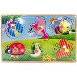 Деревянная игрушка Рамка-Вкладыш MD 2384-01 Насекомые