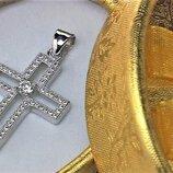 Крестик серебро 925 проба 2,53 грамма без пробы