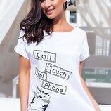 Коттоновая футболка, 4 цвета