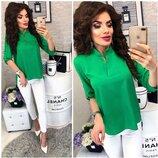 Крутая блузка зеленого цвет 44-46