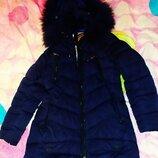 Куртка ,пальто зима р.140 можно раньше