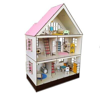 Кукольный домик для лол, мебель, текстиль. Эко игрушки.