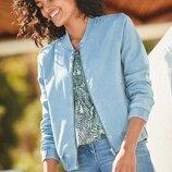Трикотажная куртка с джинсовым эффектом