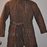 Пальто деми на девочку S, рост 122-140 см