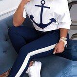 женский летний костюм штаны и футболка ос 5616