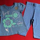 Комплект футболка и лосины George для девочки 6-9 мес