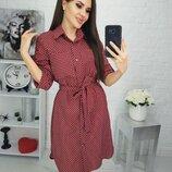 Легкое летнее платье-рубашка с карманами