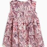 Розовое платье с животными Next р. 3-4 года
