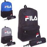 Рюкзак городской Fila 1901 с пеналом ранец Fila размер 42x28x13см, 3 цвета