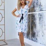 Платье приталенное кулиской, женское короткое платье, жіноче коротке плаття.